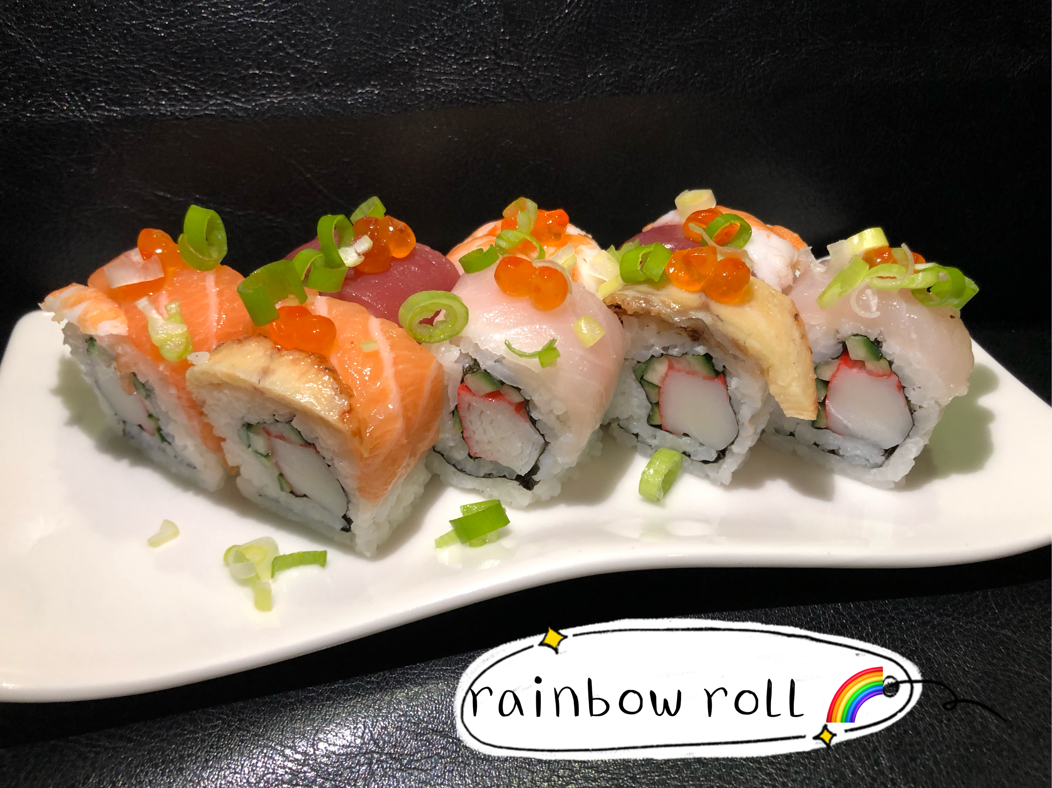 Rainbow roll (8 pcs)